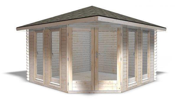Corner Cabin 40mm Chelsea 3.6mx3.6m 3