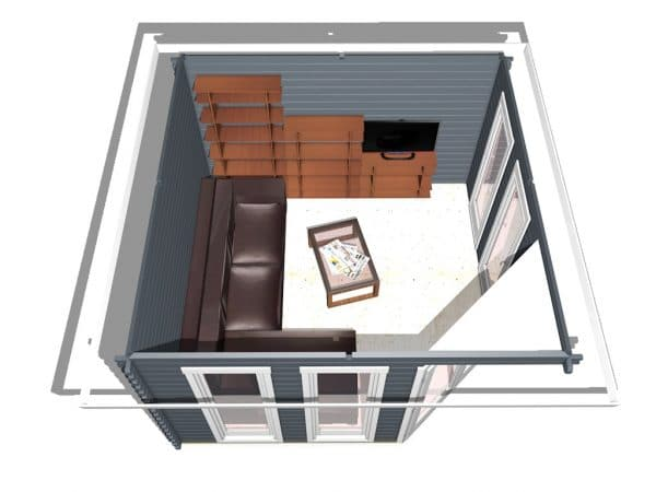 Corner Cabin 40mm Chelsea 3.6mx3.6m 4