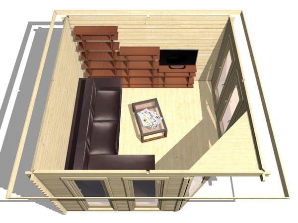 Corner Cabin 40mm Chelsea 3.6mx3.6m 5