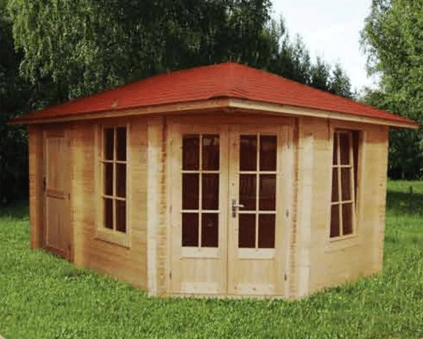 Corner Cabin 40mm Emma 4.5mx3m 3