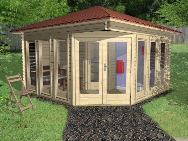 Garden Sauna 40mm Odisea 4mx4m 1