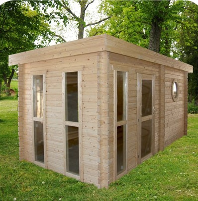Garden Sauna 45mm Rothenham 4.8mx2.4m 8