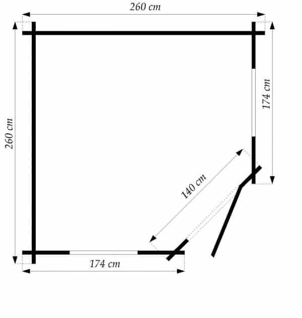 Log Cabin Daniella 2.6mx2.6m 7