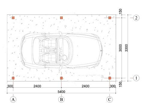 Wooden Carport Greven 5.5mx3.3m 1