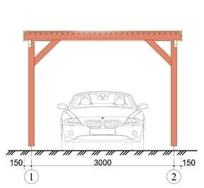 Wooden Carport Greven 5.5mx3.3m 2