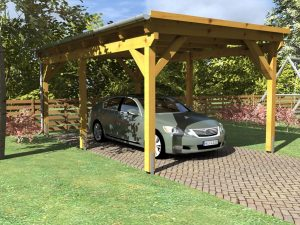 Wooden Carport Greven 5.5mx3.3m main