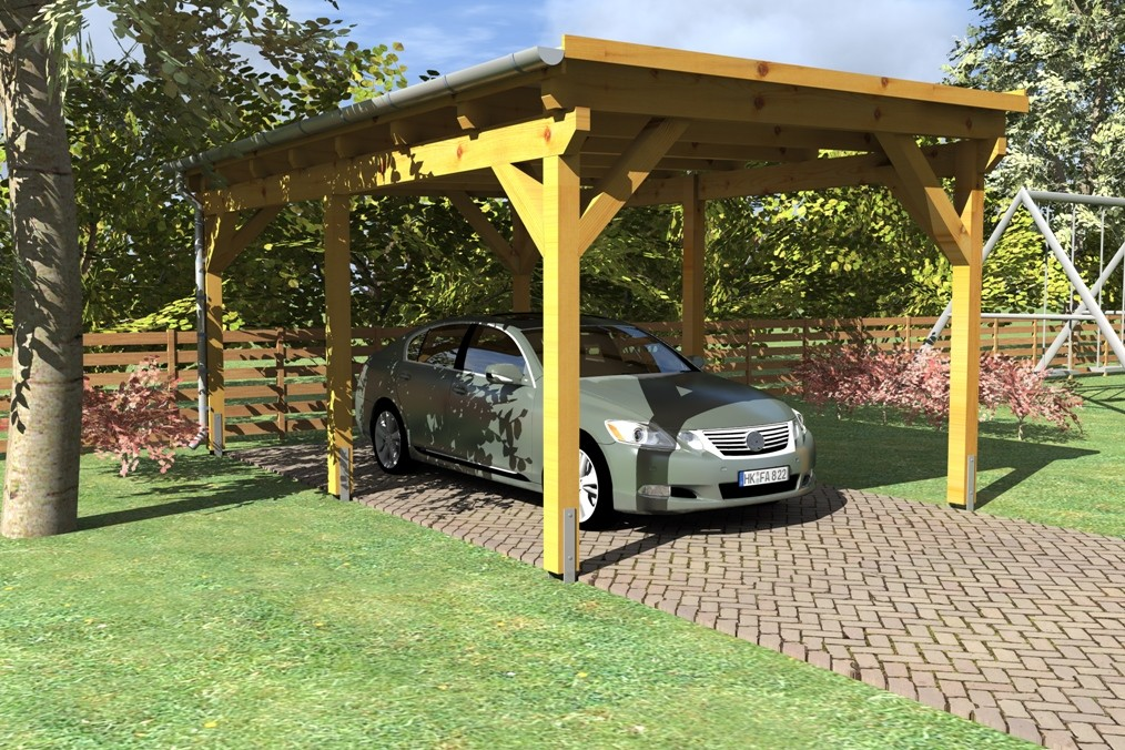 Wooden Carport Greven 55mx33m
