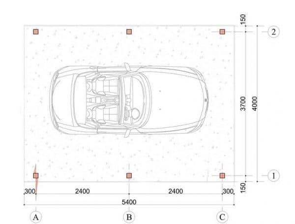 Wooden Carport Trent 5.4mx4m 2