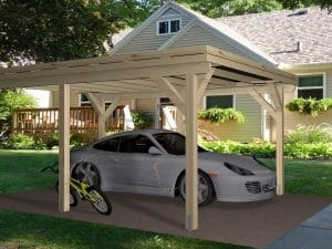 Wooden Carport Trent 5.4mx4m main
