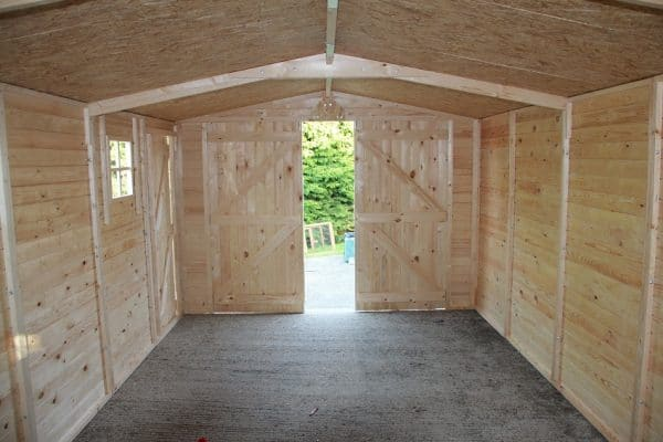 Wooden Garage:Workshop19mm 6mx3m 1