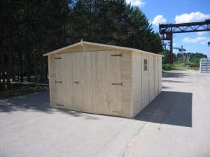 Wooden Garage:Workshop19mm 6mx3m 4