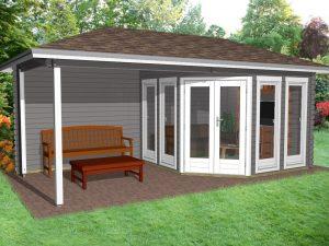 Garden Office Porch1