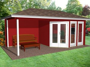 Garden Office with porch