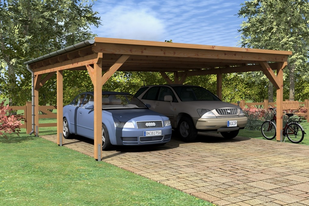 Wooden Carport Breme 57mx54m