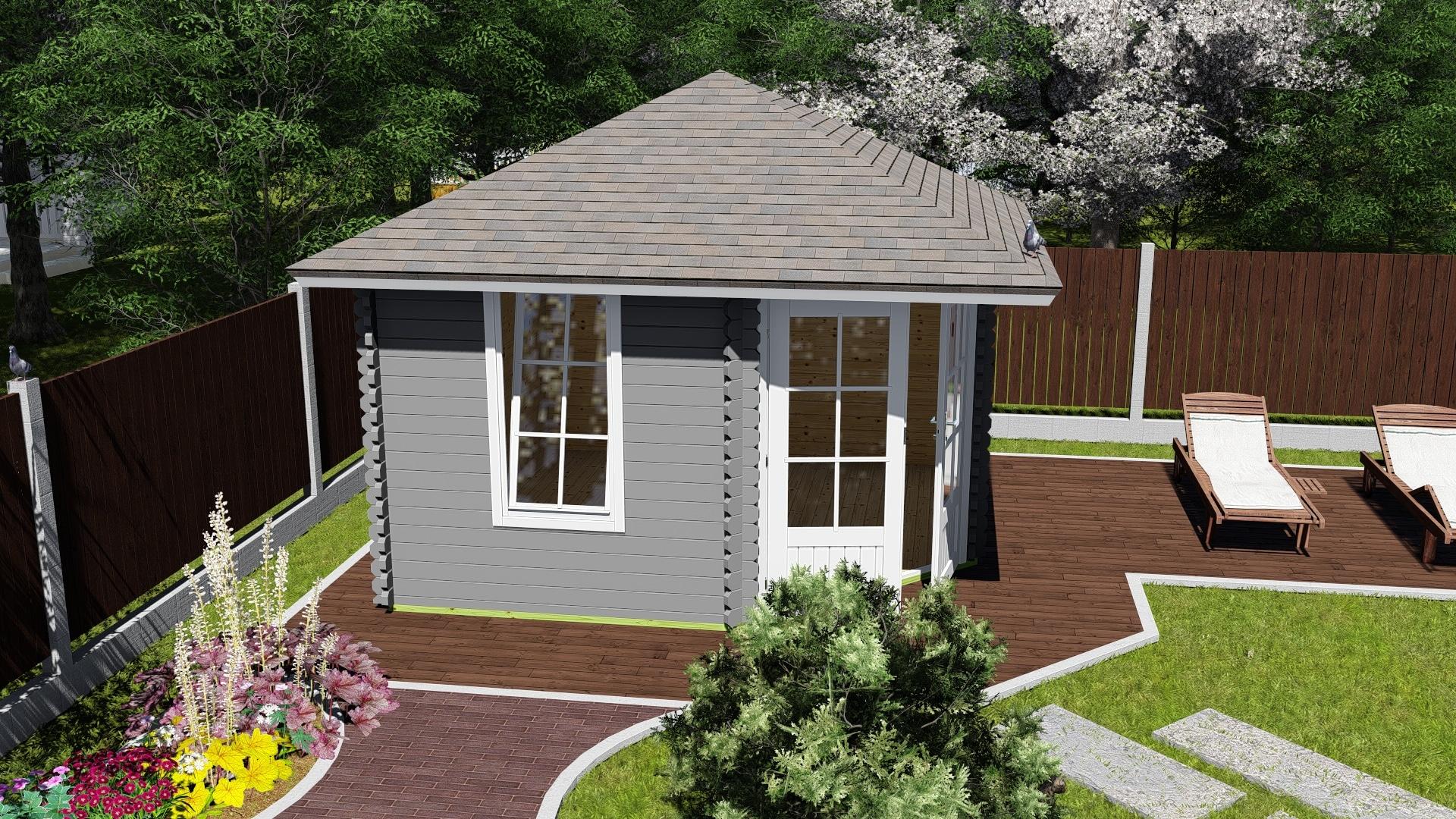 log cabin 28mm angus 3mx3m al timber. Black Bedroom Furniture Sets. Home Design Ideas