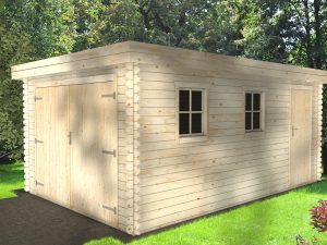 Wooden Garage 28mmALtimber