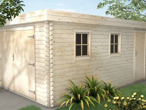 Wooden Garage thick